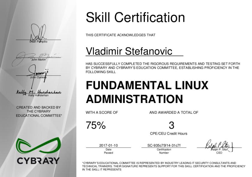 cybrary-cert-fundamental-linux-administration